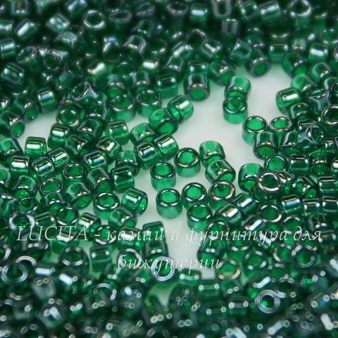 0118 Бисер японский TOHO Treasure (цилиндр) 11/0, зеленый изумруд с блеском