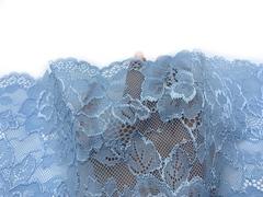 Кружево эластичное голубое 19 см