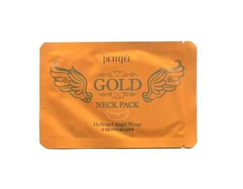 Маска Для Области Шеи PETITFEE Gold Neck Pack Hydrogel Angel Wings