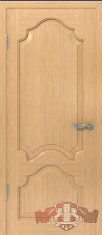 Дверь 11ДГ1 (орех, глухая шпонированная), фабрика Владимирская фабрика дверей