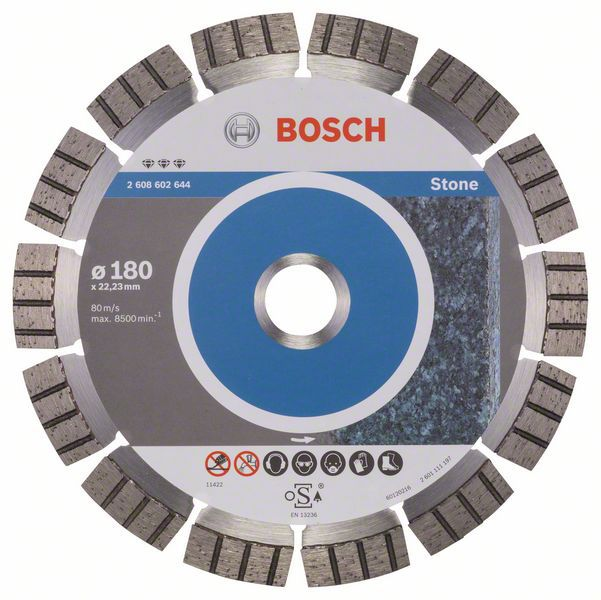 Алмазный диск Best for Stone 180-22,23 Bosch 2608602644