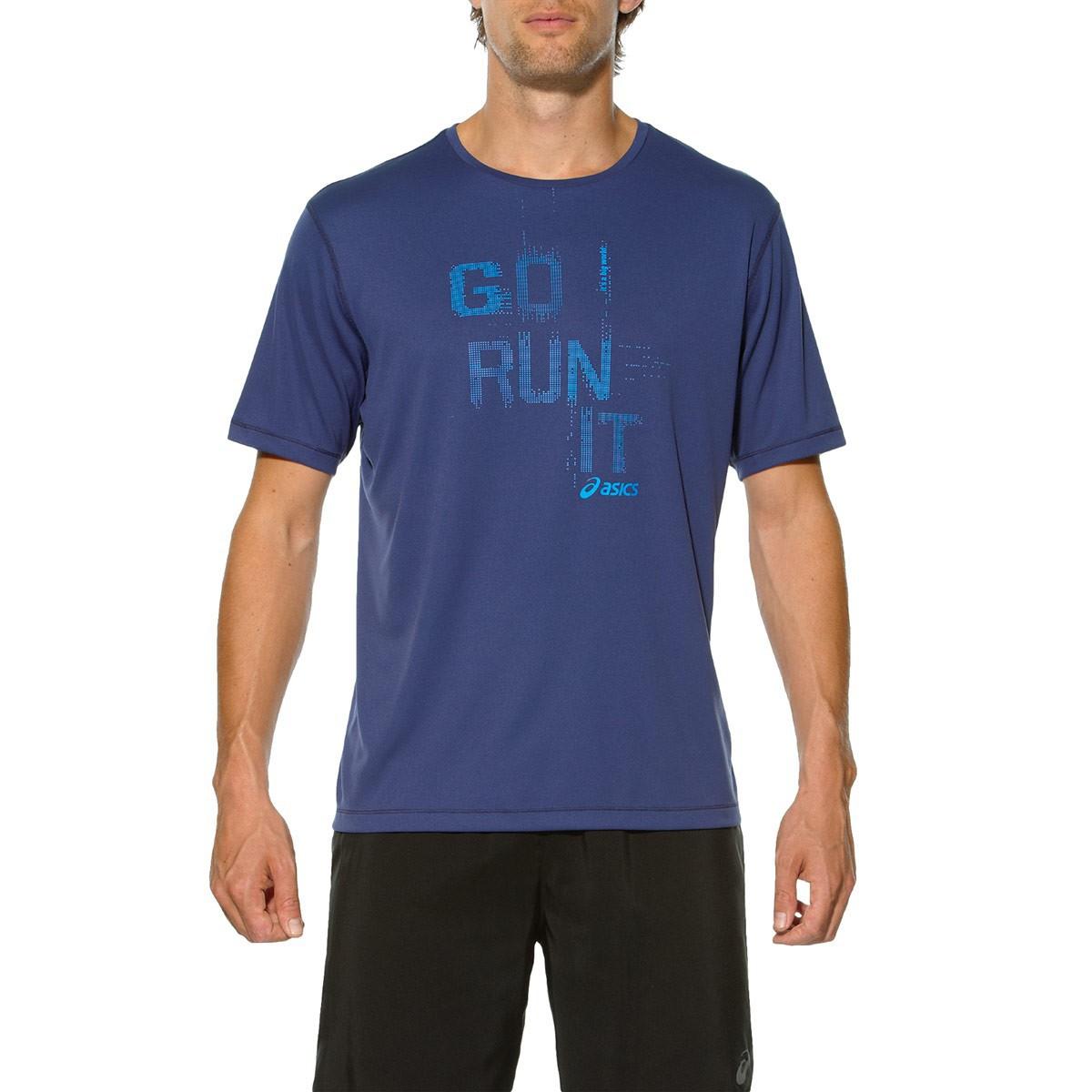 Мужская спортивная футболка Asics Short Sleeve Tee (125141 8133) синяя фото