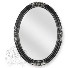 Зеркало овальное Migliore ML.COM-70.503.NR.AG Черный/декор серебро 82х62х5,5см.