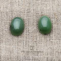 Кабошон овальный 18мм х 13мм. Зелёный нефрит (класс моде).