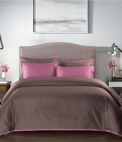 Постельное белье однотонное Coctail терракотовый-розовый, Sharmes