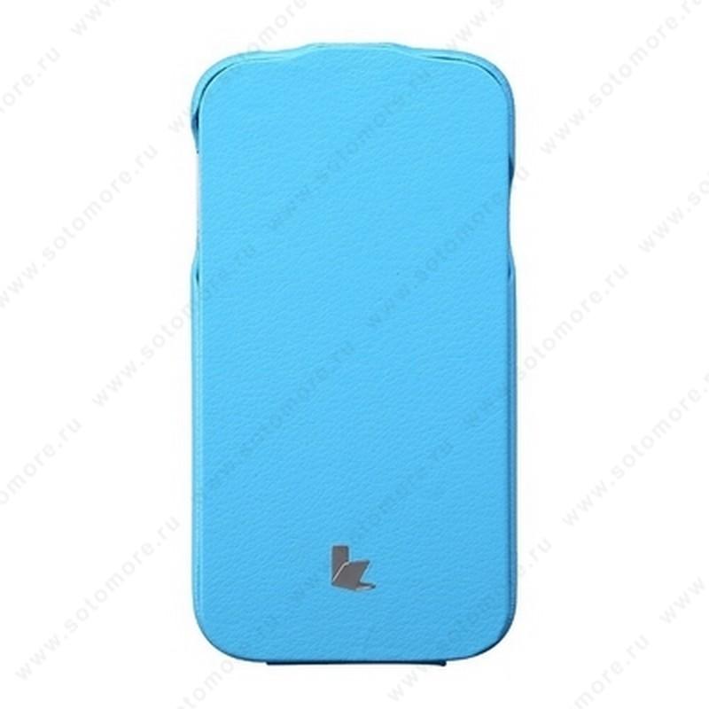 Чехол-флип Jisoncase для Samsung Galaxy S4 i9500/ i9505 голубой JS-SM4-04H
