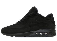 Кроссовки Мужские Nike Air Max 90 VT Black С Мехом