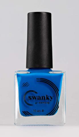 Лак для стемпинга Swanky Stamping №014, неоново-синий, 10 мл.