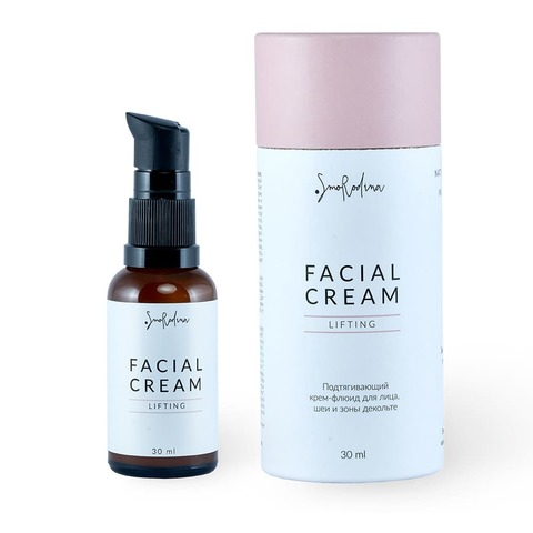 Подтягивающий крем-флюид Лифтинг Lifting для кожи лица, шеи и декольте, SmoRodina
