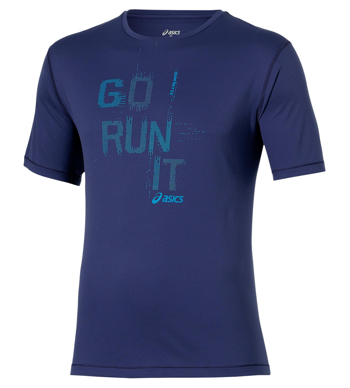 Мужская футболка Asics Short Sleeve Tee (125141 8133) синяя фото