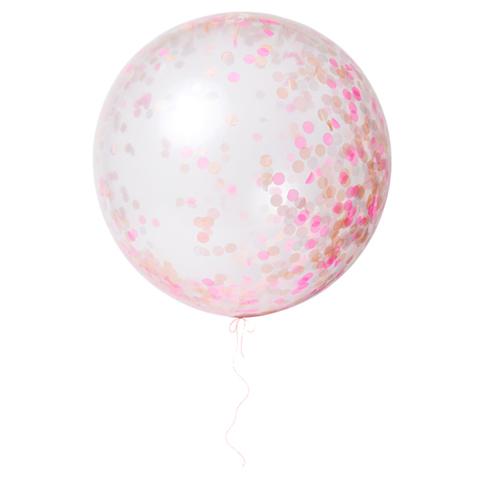 Воздушные шары с конфетти, розовые, большие