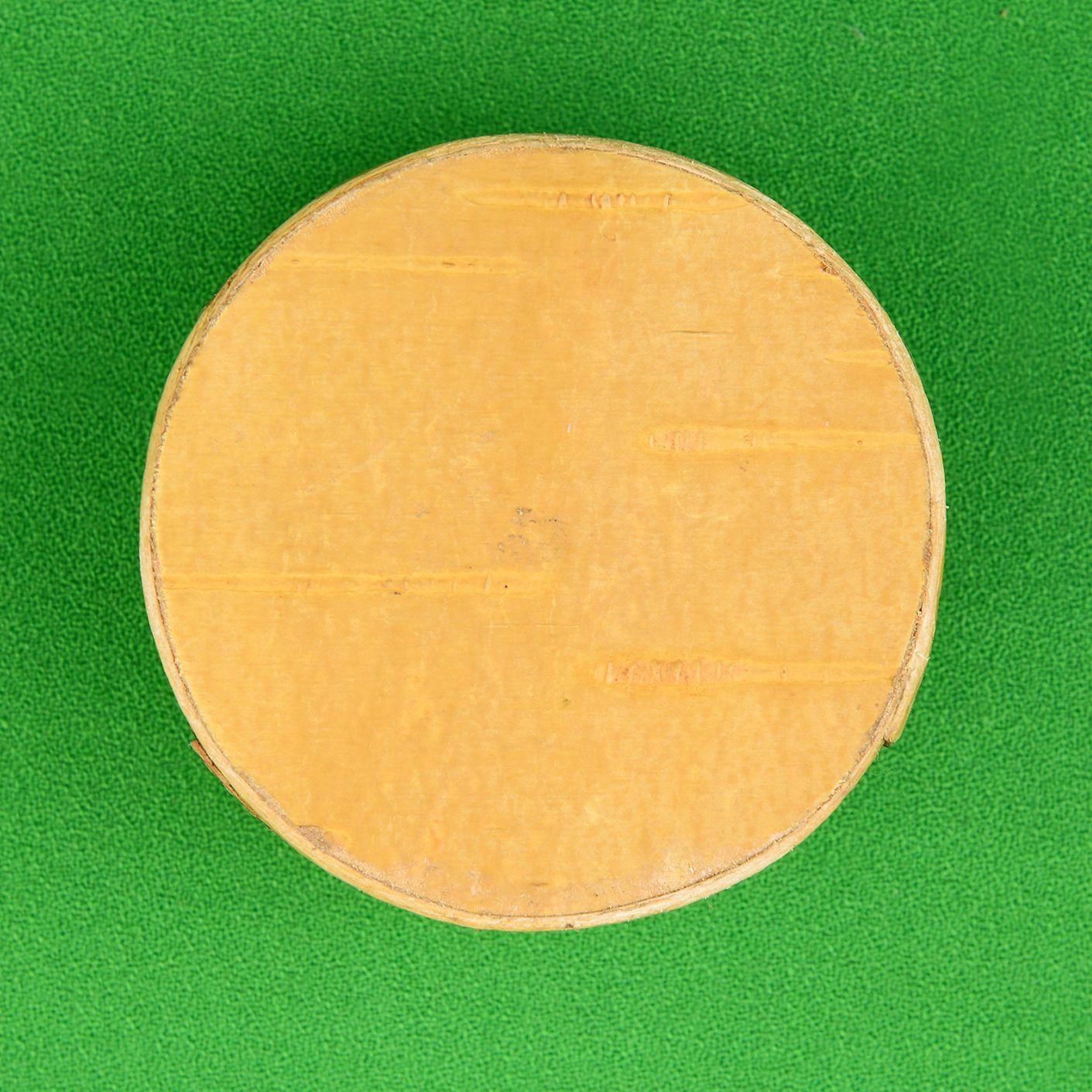 Шкатулка круглая снизу