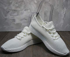 Крутые женские кроссовки Small Swan NB283-2 All White.