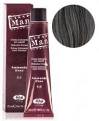 Оттенок 0/18 светло-серебристый Безаммиачный профессиональный крем-краситель для мужчин Lisap Man Color 60мл