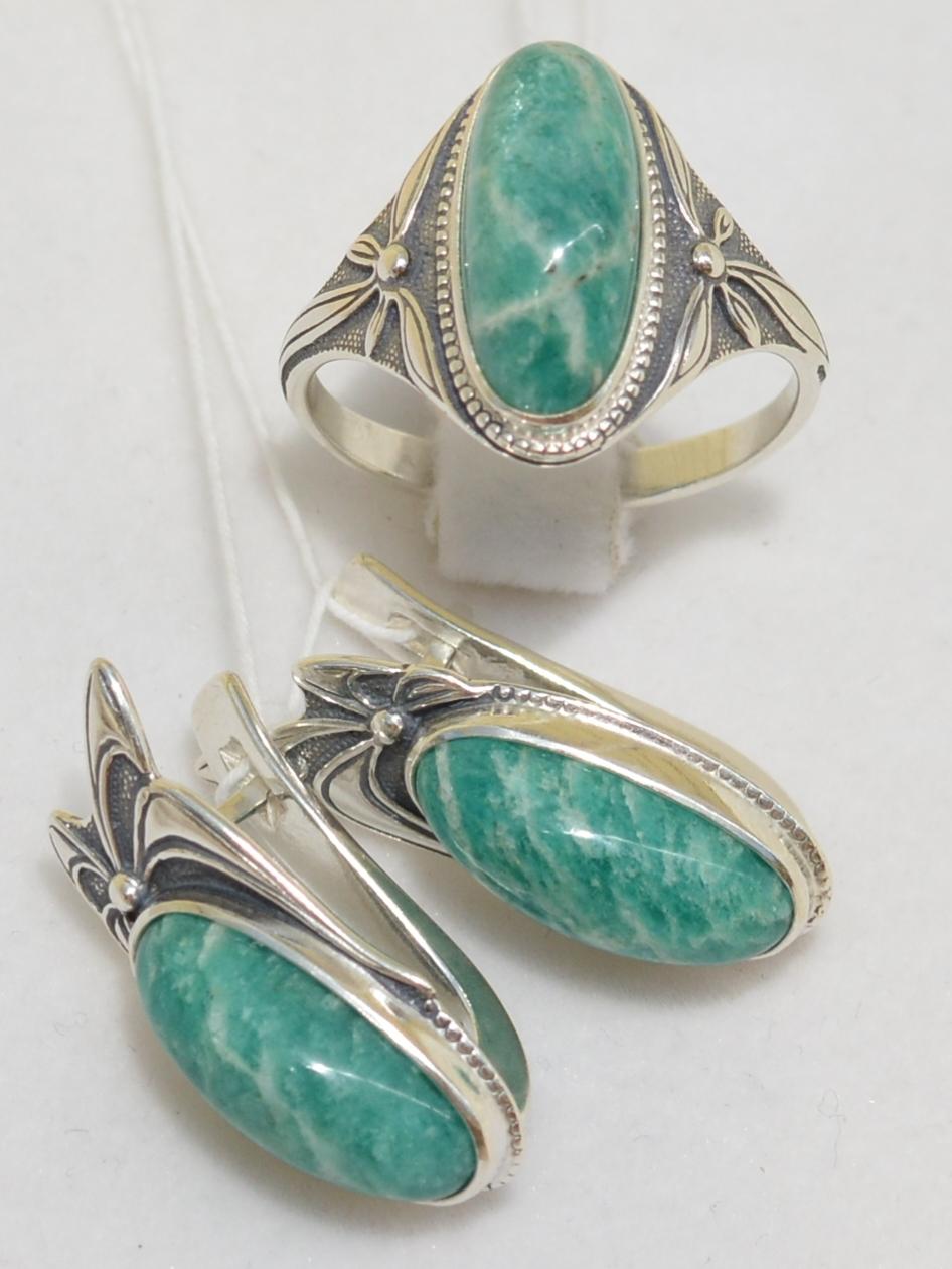 Арши (кольцо + серьги из серебра)