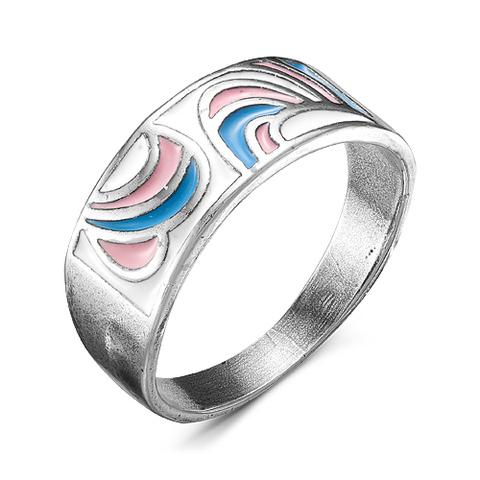 Кольцо с эмалью и серебрением