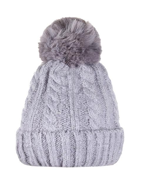 HT1805-3 шапка женская, серая