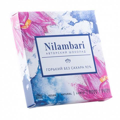Шоколад горький без сахара, 92% Nilambari, 65 г