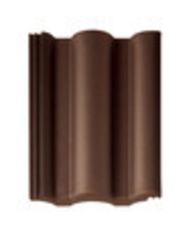 Рядовая черепица BRAAS Таунус, цвет: Темно-коричневый
