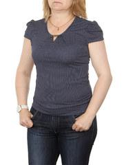 A7-7 блузка женская, темно-синяя