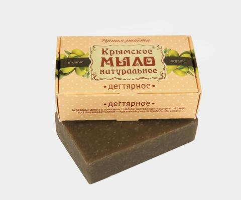 МДП Крымское натуральное мыло на оливковом масле ДЕГТЯРНОЕ, 100г