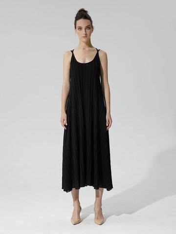 Женское платье черного цвета из вискозы - фото 4