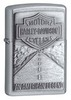 Зажигалка ZIPPO Harley-Davidson Street Chrome латунь/н��кель-хром (20229) набор zippo street chrome™ из узкой и широкой зажигалок