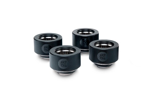 EK-HDC Fitting 16mm - Black (4-pack)
