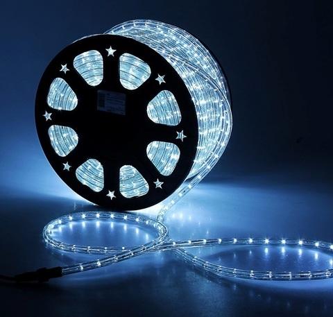 Дюралайт светодиодный, двухпроводной, круглый 13 мм, Белый, 36 LED/м, кратность резки 2 метра