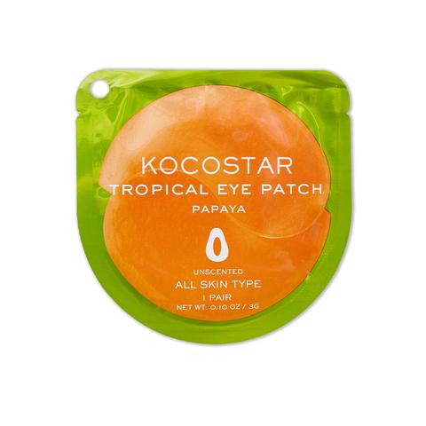 KOCOSTAR | Гидрогелевые патчи для глаз Тропические фрукты (2 патча/1 пара) (Папайя) / Tropical eye patch Papaya, (3 г)
