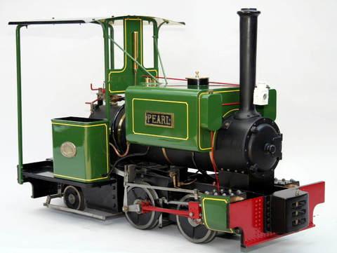 Garden Rail Паровоз Pearl на колею 12,7 см и 17,8 см, угольный