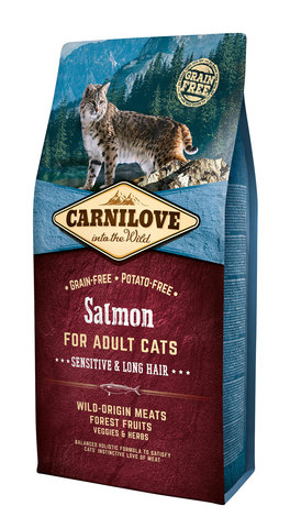 Carnilove Cat Sensitive & Long Hair лосось
