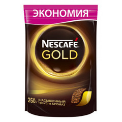 Кофе Nescafe Gold растворимый, пакет 250 г