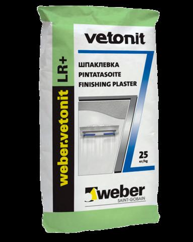 Шпаклевка финишная полимерная для сухих помещений Weber Vetonit (Ветонит) LR 25кг