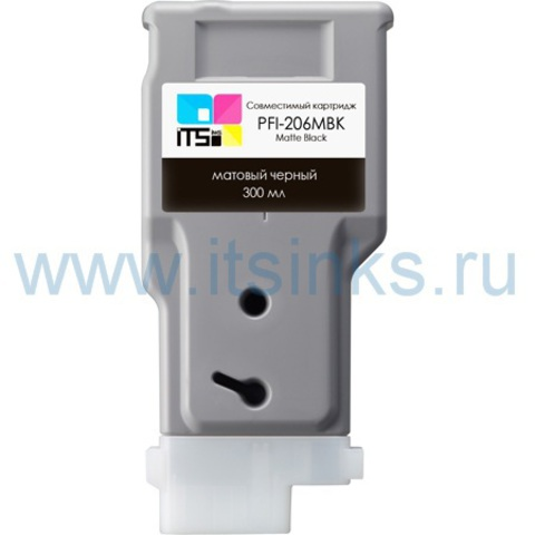 Картридж PFI-206MBK 300 мл