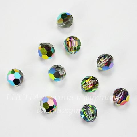 5000 Бусина - шарик с огранкой Сваровски Crystal Vitrail Medium 6 мм (НЕРОВНАЯ ФОРМА)