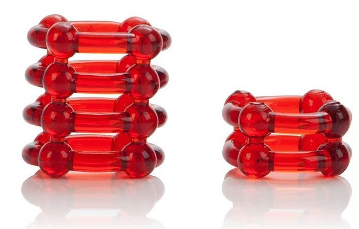Эрекционные кольца: Набор из двух красных эрекционных колец COLT Enhancer Rings