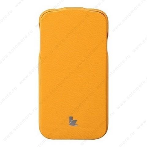 Чехол-флип Jisoncase для Samsung Galaxy S4 i9500/ i9505 оранжевый JS-SM4-04H