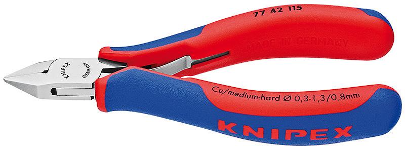 Кусачки боковые для электроники 115мм KNIPEX KN-7742115
