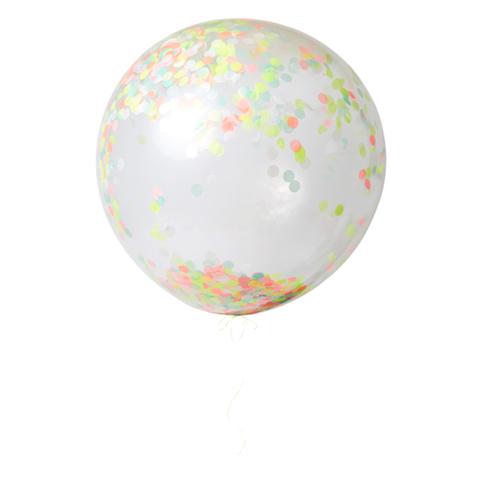 Воздушные шары с конфетти, неон, большие