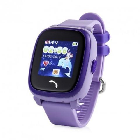 Детские часы с GPS трекером Smart Baby Watch W9 GW400S Водонепроницаемые (Фиолетовый)