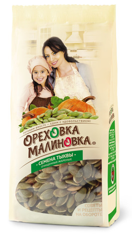 ОРЕХОВКА МАЛИНОВКА Семена тыквы очищенные жареные 190 г