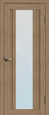Дверь La Stella 205, стекло матовое, цвет тиковое дерево, остекленная