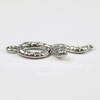 "Подвеска ""Змейка"" (цвет - античное серебро) 34х11 мм"