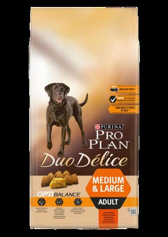 Pro Plan Duo Délice Adult с говядиной 10 кг