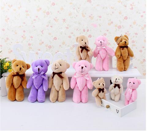 Іграшка для ляльки 8 см - ведмедик бежевий