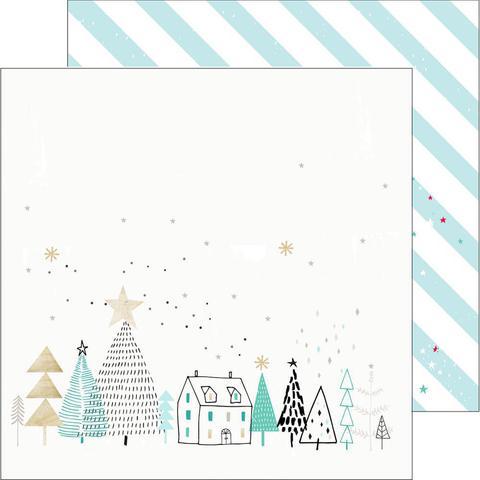 """Лист двусторонней бумаги 30*30 """"Christmas Wishes"""""""