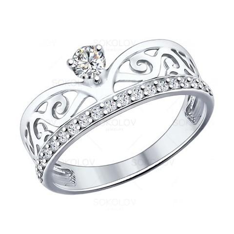 Кольцо из серебра с фианитами арт.94012036