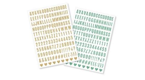 Стикеры на прозрачной основе Heidi Swapp Memory Planner Stickers - Glitter Alphabet