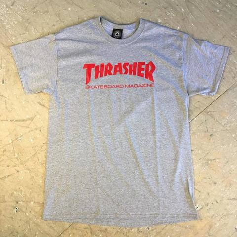 Футболка Thrasher Skate Mag gray/red